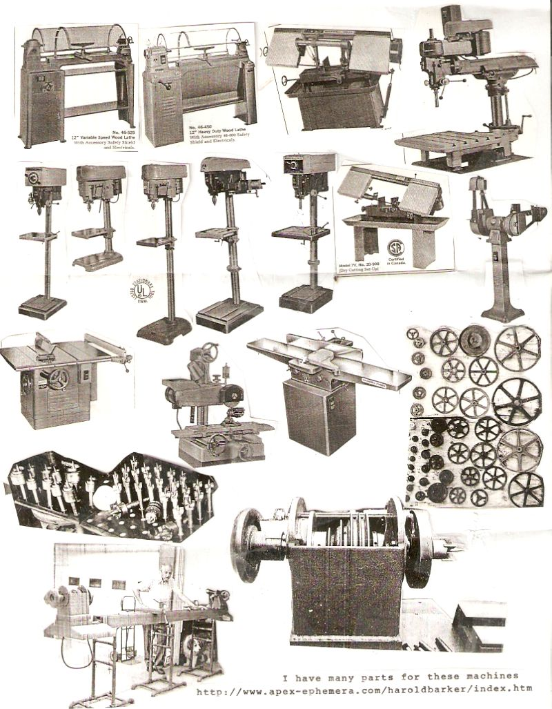 Harold Barker Antique Tool Machine Catalogs Parts